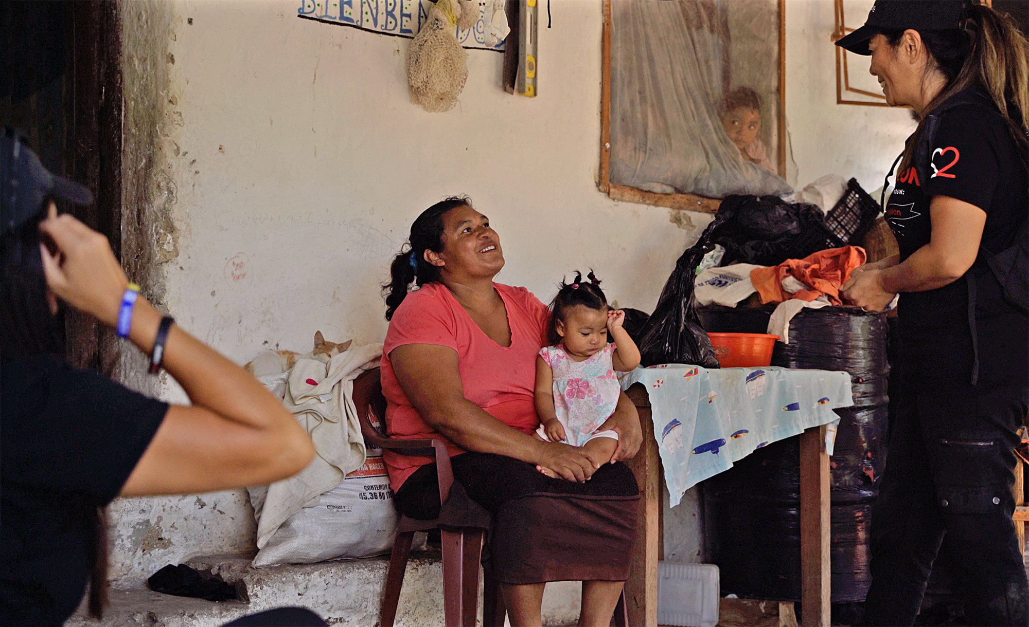 MISSIONARIES visiting a family in honduras